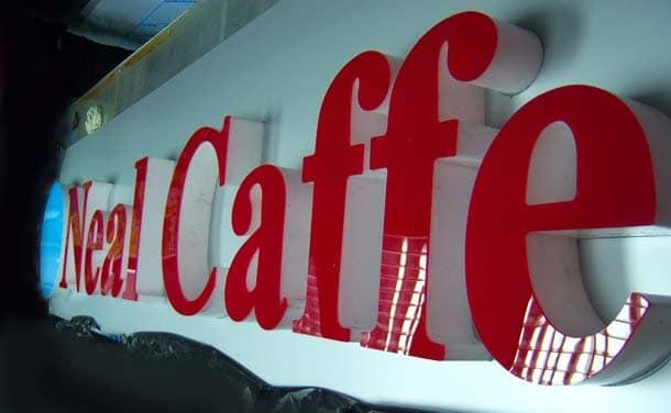 insegne pubblicitarie caffè
